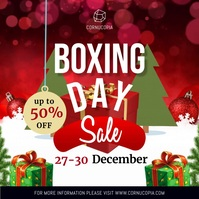 Online Boxing Day Advertisement Carré (1:1) template