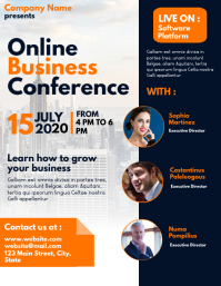 online business conference advertisement flye Flyer (US Letter) template