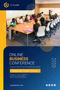 Online Business Conference Poster Flyer Plakkaat template