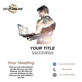 ONLINE BUSINESS / STORE AD TEMPLATE Square (1:1)