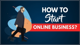 ONLINE BUSINESS YOUTUBE THUMBNAIL