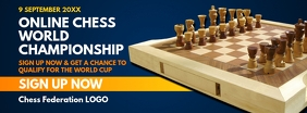 Online Chess Championship Signup Template Facebook Cover Photo