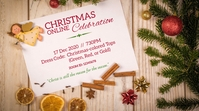 online Christmas Party Invite Ecrã digital (16:9) template
