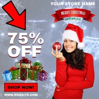 ONLINE CHRISTMAS SALE AD TEMPLATE Square (1:1)