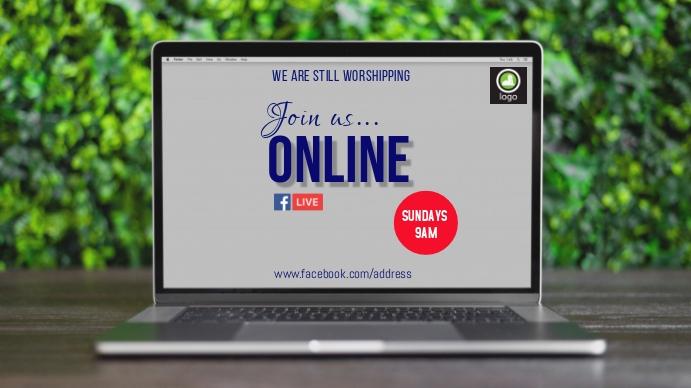Online Church Ad Tampilan Digital (16:9) template