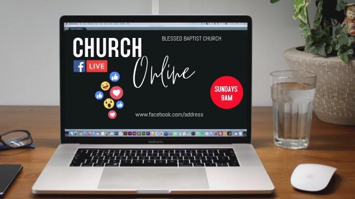 Online Church Advertisement Pantalla Digital (16:9) template