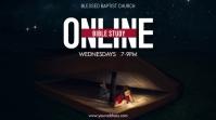 Online Church Bible Study Tampilan Digital (16:9) template