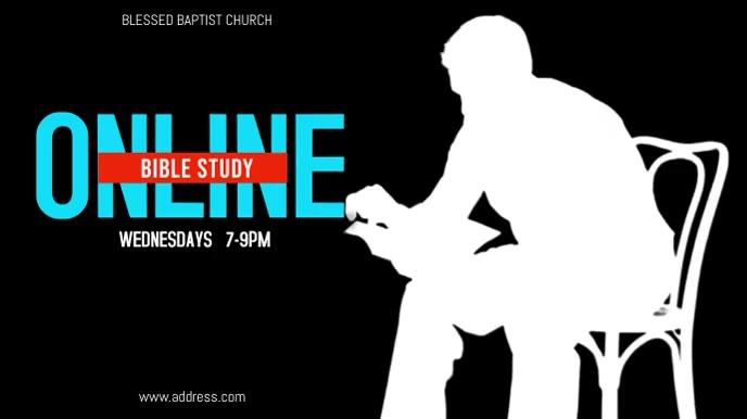 Online Church Bible Study 数字显示屏 (16:9) template