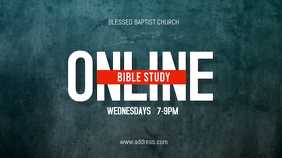 Online Church Bible Study Display digitale (16:9) template