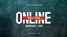 Online Church Bible Study Display digitale (16:9) template