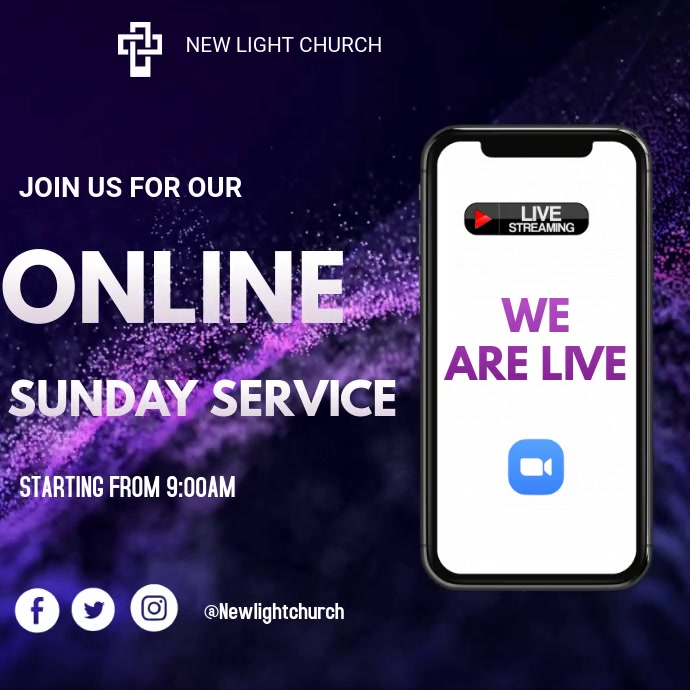 Online Church Vierkant (1:1) template