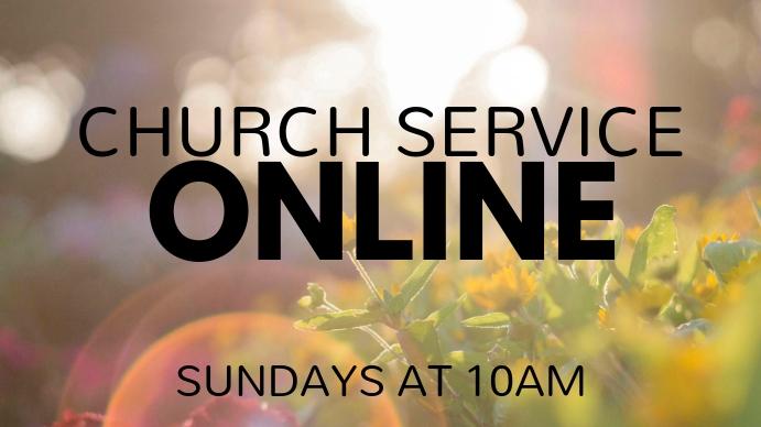 Online Church Digital na Display (16:9) template