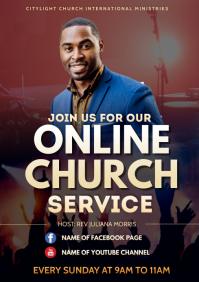 online church flyer
