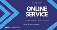 Online Church flyer Imagen Compartida en Facebook template