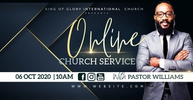 Online church service Facebook Shared Image template