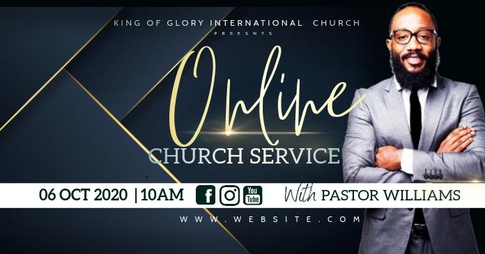 Online church service Gambar Bersama Facebook template