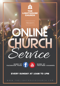 Online church service A3 template