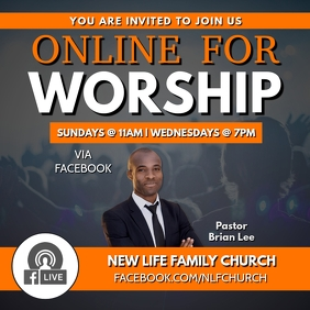 ONLINE CHURCH SERVICE FLYER TEMPLATE