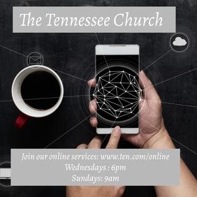 Online Church Service Instagram Template