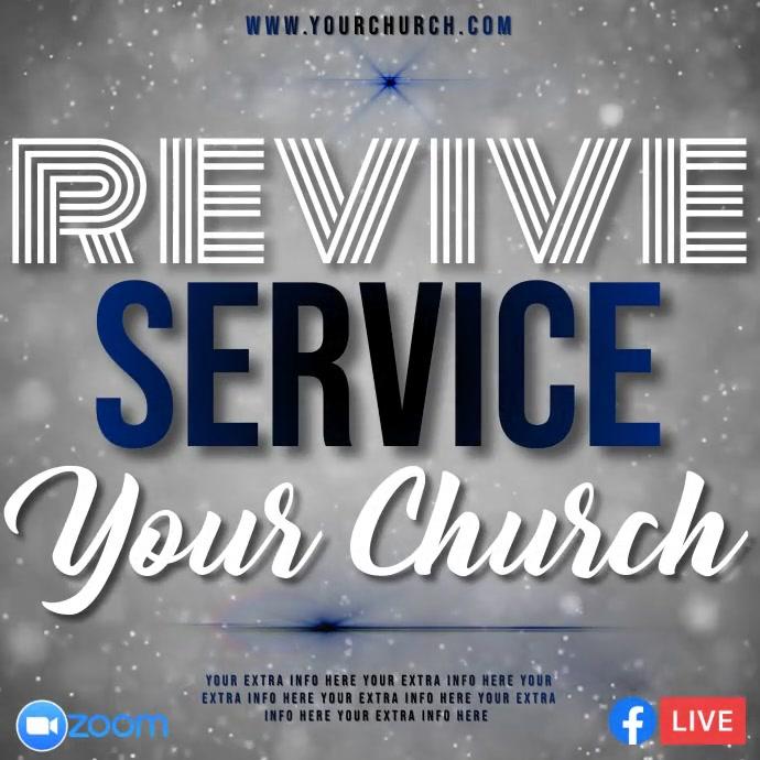 online church service template Instagram 帖子