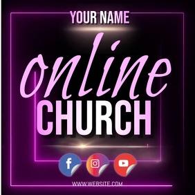 online church template Instagram-Beitrag