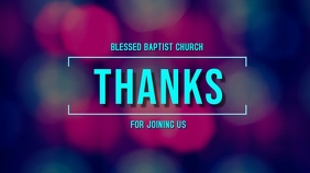 Online Church Thanks Digitale display (16:9) template