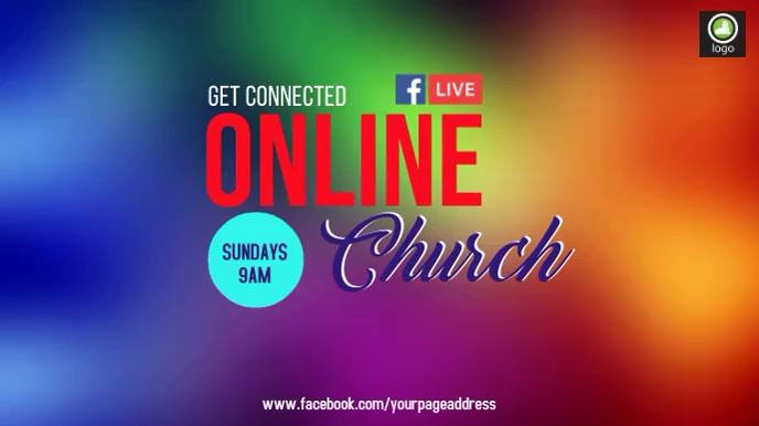 Online church Video 数字显示屏 (16:9) template