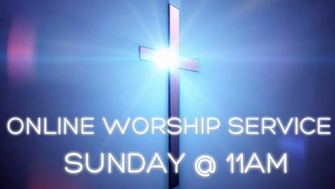 Online church worship service Vídeo de portada de Facebook (16:9) template