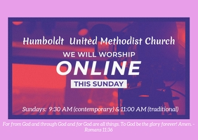 online church worship service facebook live