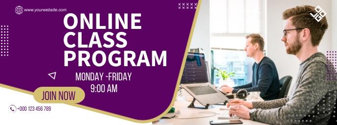 Online Class Program Facebook Cover Photo template