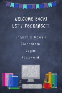 Online Class Welcome Poster template