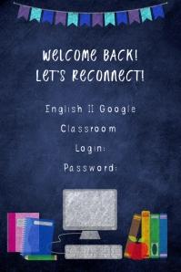Online Class Welcome Plakkaat template