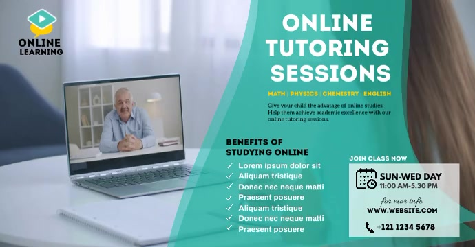 Online Classes ads Facebook-annonce template