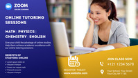 Online Classes blog header ส่วนหัวบล็อก template