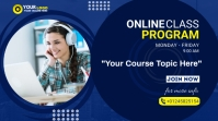 Online Classes course flyer Digital Display (16:9) template