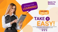 Online Classes course flyer Twitch Banner template