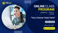 Online Classes course flyer Facebook Cover Video (16:9) template