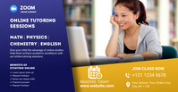 Online Classes facebook group cover photo pos template