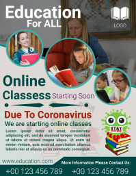 Online Classes Flyer