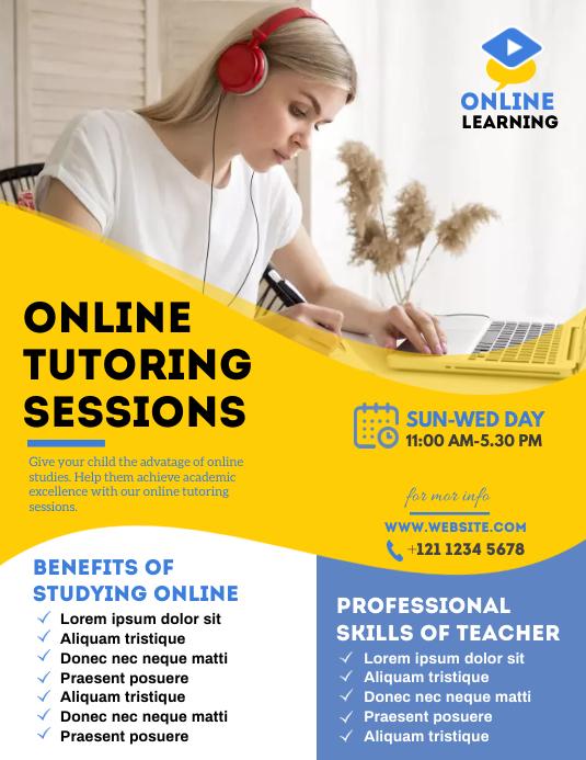 Online Classes Flyer Løbeseddel (US Letter) template