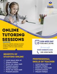 Online Classes Flyer Pamflet (VSA Brief) template