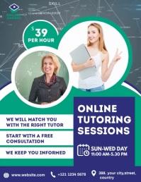 Online Classes Flyer Folder (US Letter) template