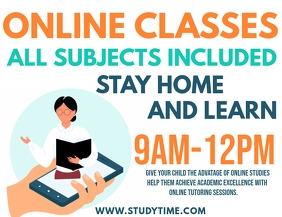 Online Classes Flyer Template