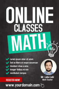 Online Classes Mathematic Poster