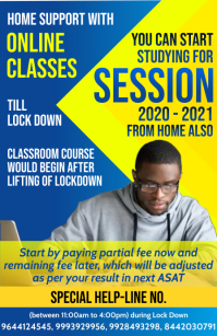 Online Classes Studying Poster Template