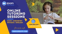 Online Classes Video Ad Twitter-Beitrag template