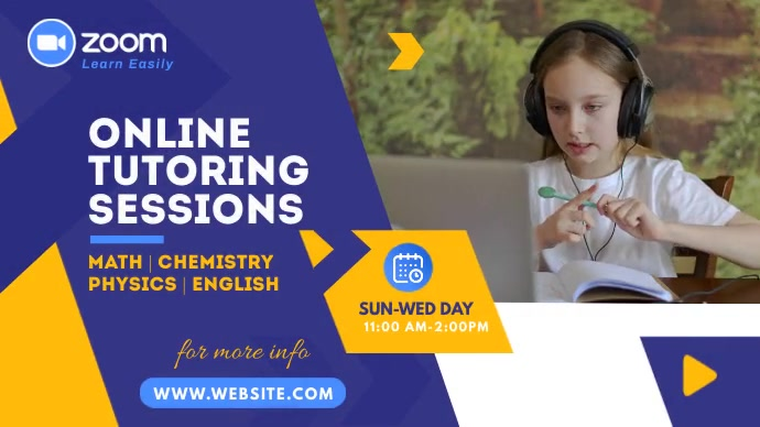 Online Classes Video Ad Twitter Post template