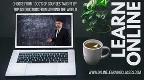 Online Classes Video Template Tampilan Digital (16:9)