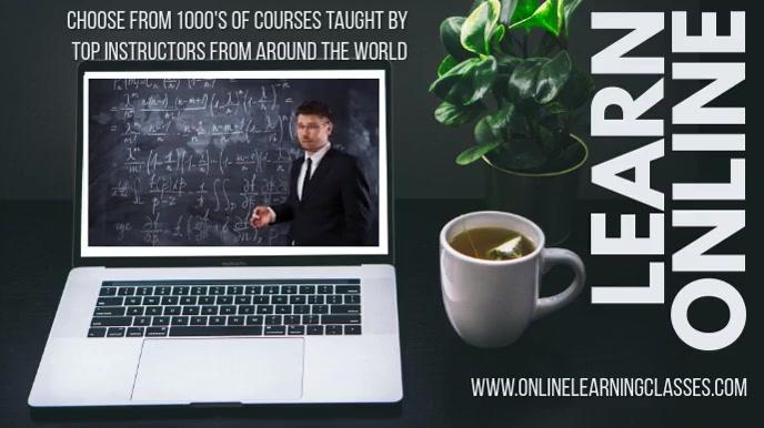 Online Classes Video Template Digital Display (16:9)