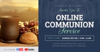 Online Communion Invitation Facebook Image Obraz udostępniany na Facebooku template